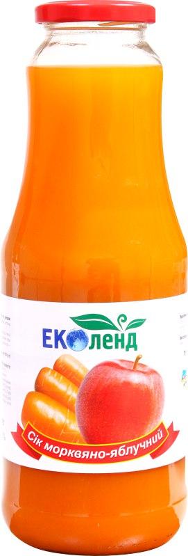 Сік морквяно-яблучний, Еколенд, 1 л