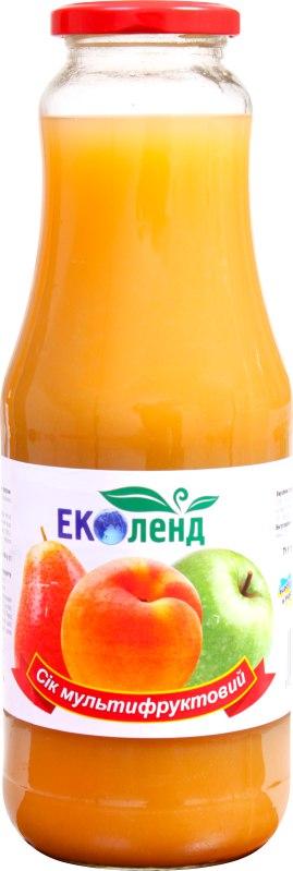 Сік мультифруктовий, Еколенд, 1 л
