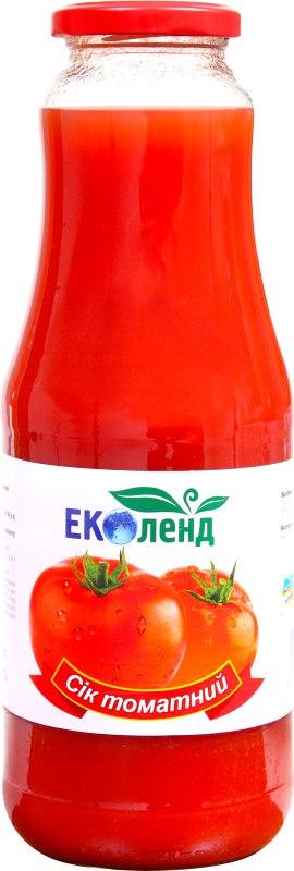 Сік томатний, Еколенд, 1 л