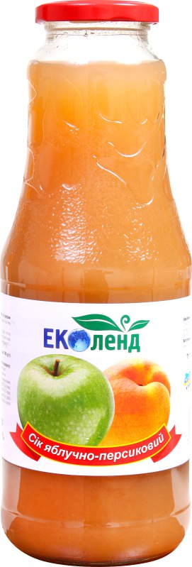Сік яблучно-персиковий, Еколенд, 1 л