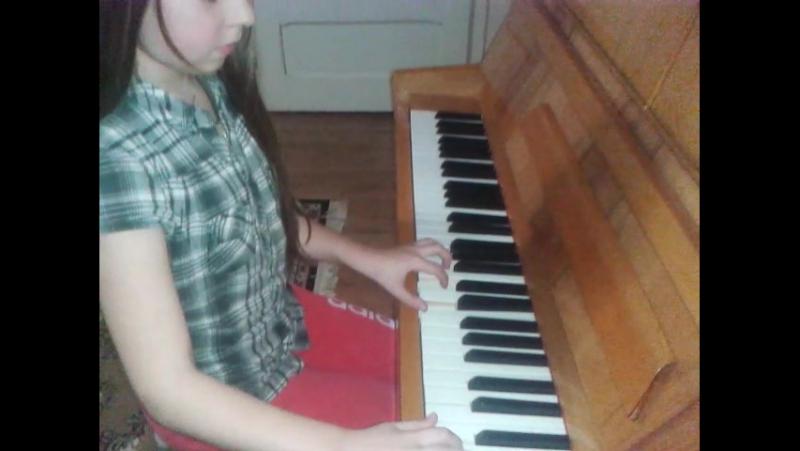 моя гра на фортепіано