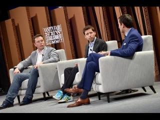 Илон Маск и Сэм Альтман на саммите Vanity Fair |08.10.2015| (На Русском)