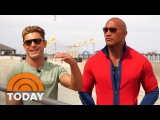 Join Dwayne The Rock Johnson, Zac Efron On The Set Of Baywatch Reboot  TODAY