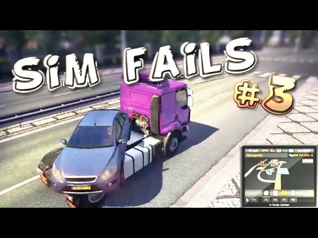 Simulation Games FAILS Compilation 3 ETS2 ATS OMSI2 BeamNG