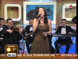 Danica Nikić i Orkestar Omera Hodžića - žal za mladost (www.rtcg.me 2015)