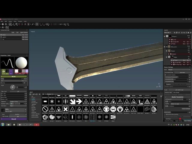 Dwemer Sword Texturing