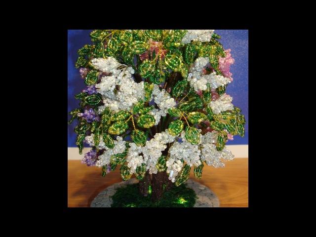 Сирень из бисера трехцветная Часть 2 5 Мастер класс Lilac Bead