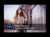Photoshop Tutorial Camera RAW filter Post Process