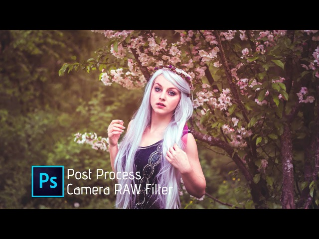 How to Edit outdoor portrait | Photoshop CC Tutorial | Camera RAW Filter ☺