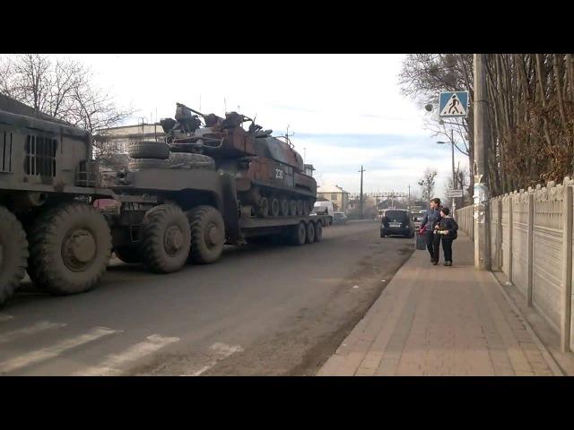 NEWS UKRAINE Воєнна техніка через Стрий ЗРК БУК Зенітний ракетний комплекс
