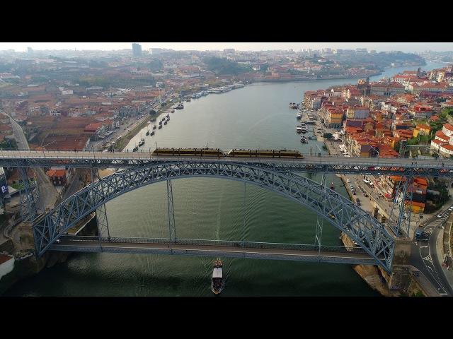 Porto visto do céu - Oporto aerial view - 4K Ultra HD