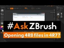 "AskZBrush ""Is it possible to open .ZTL or .ZPR files created with ZBrush 4R8 in ZBrush 4R7"""