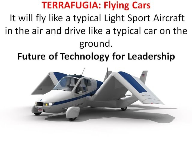 AMERICAN TWO SEAT TERRAFUGIA and other ROADABLE AIRCRAFTS or Flying Cars
