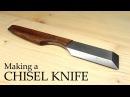 Making a Chisel Knife inspired by the Mora kiridashi knives