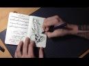 Tombow pen test in moleskine sketchbook