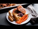 ?Самый простой рецепт запечённых овощей с мясом?