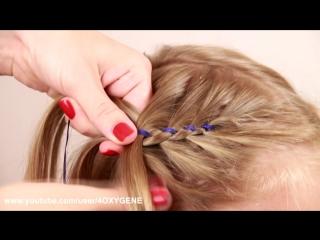 Детские косички с лентой. Children Braids with Ribbon