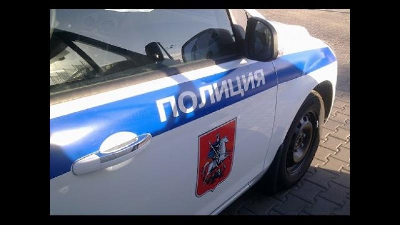 Перестрелка в центре Москвы. Реальная съемка камерой видео наблюдения