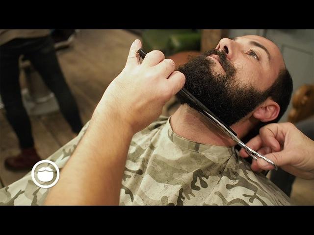 Best Way to Shape Curly Beard at Barbershop | Hari Cut Grind