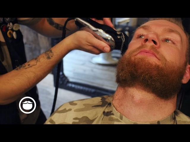 Short Beard Barbershop Maintenance Trim | Cut Grind