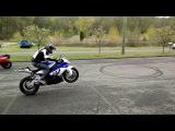 BWM S1000RR stunt demo part 1 - Chris