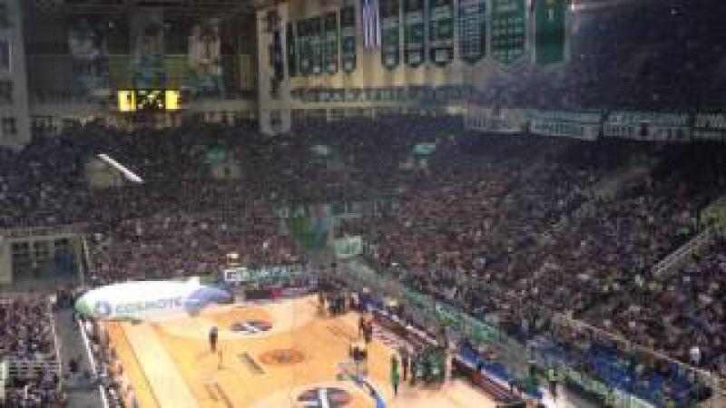 Panathinaikos vs Fenerbahce - Gate 13 atmosphere - Horto magiko [1080p]