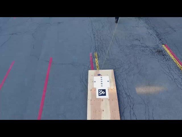 Autonomous Landing of a Multirotor Aerial Vehicle on a High Velocity Ground Vehicle