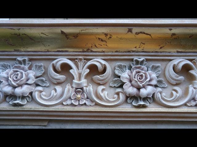 Технология росписи патинирования багета с декором decor