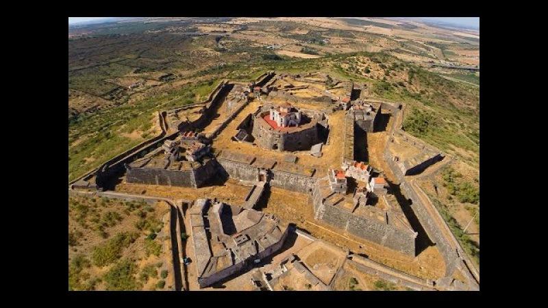 Nossa Senhora da Graça Fort and Elvas aerial view Portugal