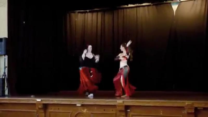 Inspire Bellydance Drum Duet Rachel and Badra de Noir 4218