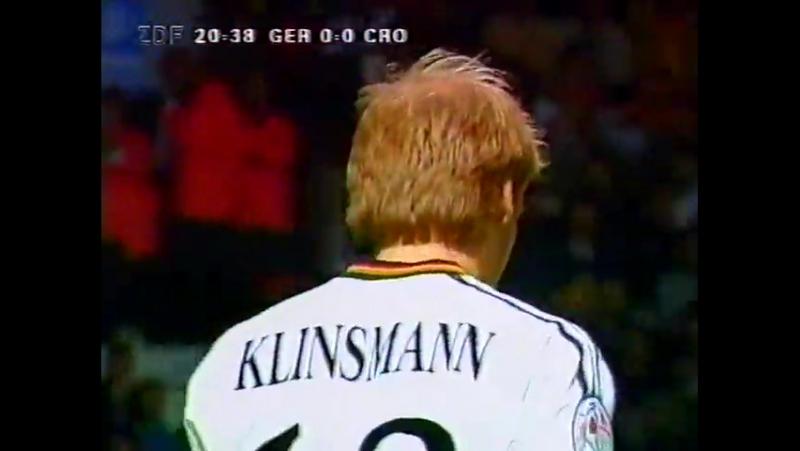 Гол Юрген Клинсманн. Германия - Хорватия (ЕВРО-1996) | vk.comdfb_ru