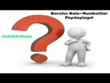 Abdulloh Domla - Barcha Balo-Musibatlar Foydayizga! _ Барча Бало-Мусибатлар Фойдайизга! - YouTube