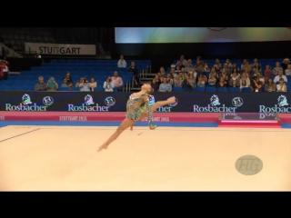 Aleksandra SOLDATOVA, 2015 Rhythmic Worlds Stuttgart, булавы