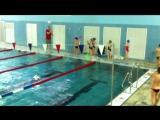 Открытый урок обучения плаванию в бассейне ВГУ. Разминка на суше.