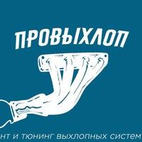 Логотип ПроВыхлоп. Ремонт и тюнинг выхлопных систем.