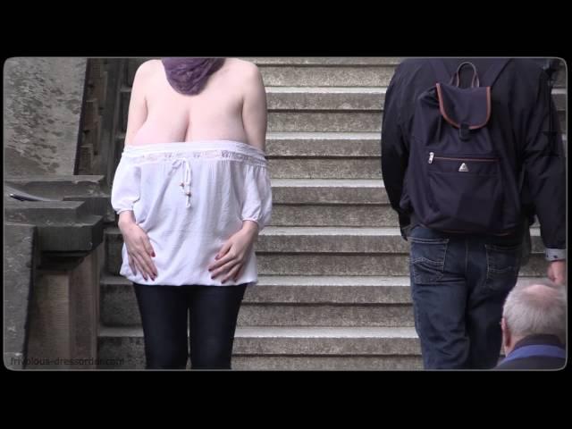 Pregnant - braless, downblouse, bouncing boobs - frivolous dressorder