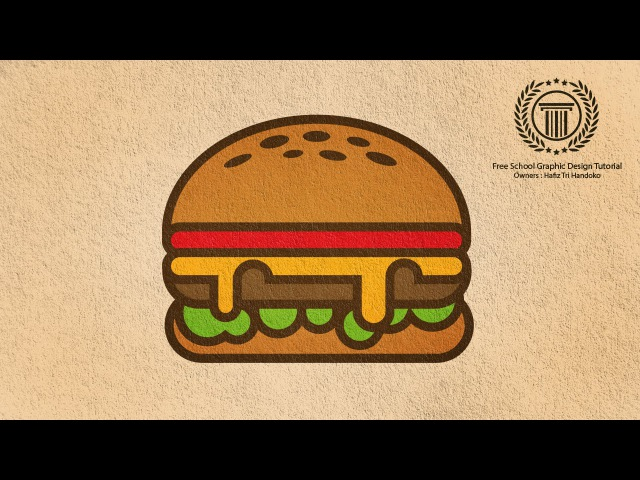 Adobe Illustrator Logo design Illustration | Burger Shape Logo Tutorial