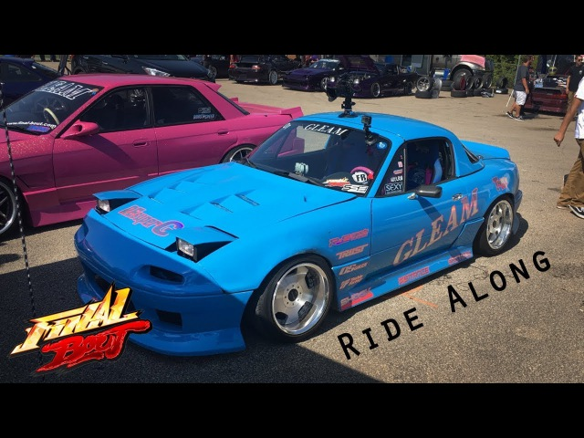 Shooting Cars — Final Bout 3 at USA International Raceway: 13b Turbo Miata Drift Ride Along.