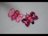 LOVEBUG BUTTERFLY HEART Ribbon Sculpture Valentine's Day Hair Clip Bow DIY Free Tutorial by Lacey