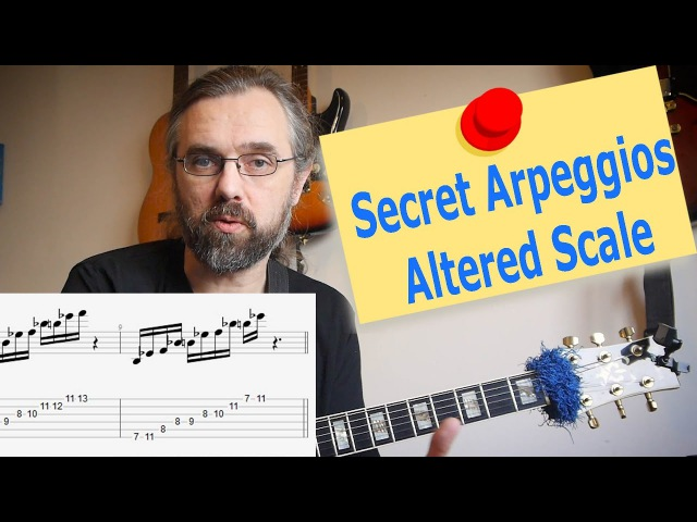 Altered Scale Arpeggios 🎸 that you forgot to learn! - Super Locrian and Dimiinished whole tone