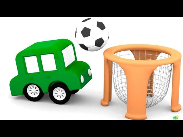 4 COCHES coloreados🚗🚘🚕🚙 ¡Vamos al patio de recreo! Dibujos animados de coches