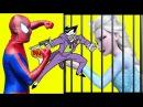 Người Nhện (Spiderman) giải cứu Nữ Hoàng Băng Giá (Elsa) bị thằng hề (Joker) bắt giam (hoat hinh)