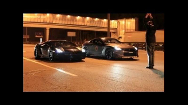 Lamborghini Gallardo UR TT vs Nissan GTR AMS Alpha 12 (360 kmh) (224 MPH)
