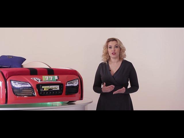 Видео обзор кроватки машинки Romack Renner 2