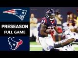 Patriots vs. Texans  NFL Preseason Week 2 FULL GAME Game REPLAY