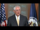 Sec. of State Rex Tillerson holds news briefing at State Department