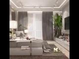 Дизайн-проект двухкомнатной квартиры 68,32 кв.м в стиле фьюжн
