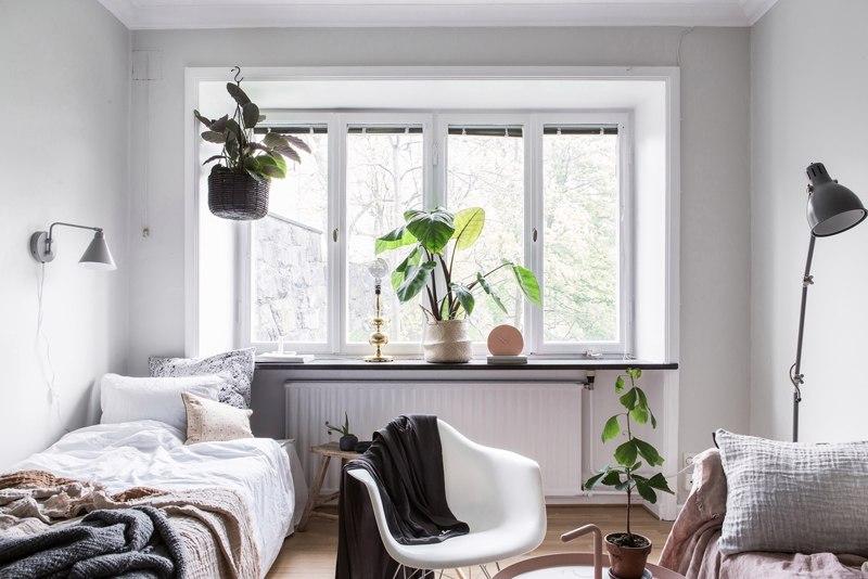 Интерьер небольшой скандинавской квартиры-студии 24 м.