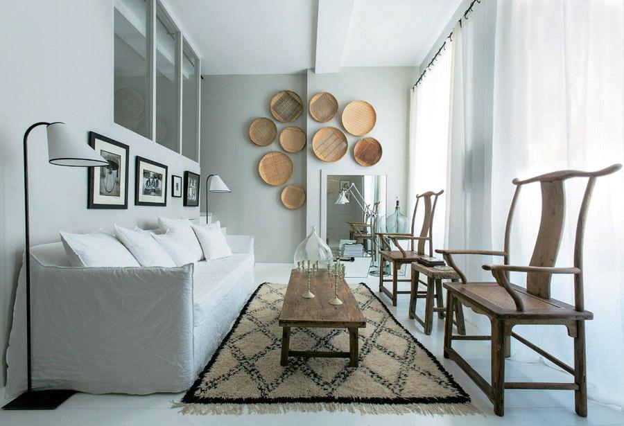 Интерьер квартиры-студии 35 м во Франции.