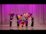 Танец с веерами.Взрослая группа восточного танца.Студия танца Зарина , Центр